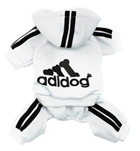SCHEPPEND Original Adidog Hoodie Sweatshirt Dog Cat Puppy Size M - White