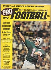 1972 Street & Smith Pro Football YBook  Bob Griese   cover  eX Condition