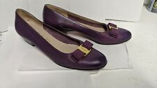 Salvatore Ferragamo Shoes, Women's Purple shoes, chipped heel, used, size 9 made