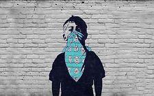 A0 SUPER SIZE CANVAS STREET ART GRAFFITI  PRINT urban  BANKSY winnie pooh boy