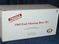 Gmp/Acme Danbury Mint 1969 Ford Mustang Boss 302 1/18 Yellow/Black