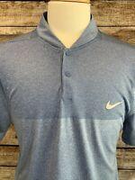 Nike Golf Modern Fit Dri Fit Blue Polo Shirt Size XL