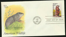 Woodchuck  American Wildlife Artmaster Cachet Color FDC 1987 Capex Show (AW17)