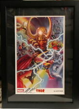 2015 SDCC Exclusive MIGHTY THOR COLLAGE Framed PRINT HAND SIGNED by Alex Ross