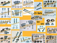 Normteile pass. für Simson S50 287 Schrauben Muttern Niet 21 Set-s DIN-Teile