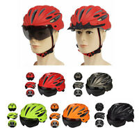 Security Cycling Helmet Bicycle Helmet with Visor Lens for MTB Mountain Bike New