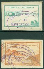 EDW1949SELL: Colombia 1920 Scott #C11 Plus C11 Verschiedene IN Brown Rot VF,