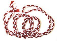 Cord St. Philomena Striped Cord 100% Wool Woven Red & White Cord Knots Catholic