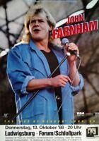 John Farnham: Age of Reason (1988)   Konzertposter Tourplakat A1