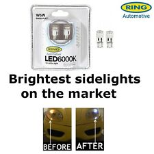 RING ICE WHITE W5W 12v 5w 501 LED SMD Car Sidelight Bulbs Pair 6000k RW5016LED
