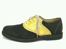 1901 Men's Leather & Suede Oxford Casual Dress Shoes Green Yellow US 9 M EU 43