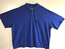NWOT TOWNCRAFT Mens Big & Tall Cobalt Blue S/S Polo Shirt Size 5XLT