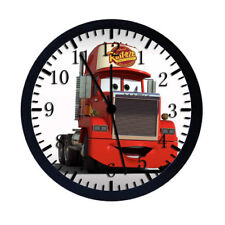 Disney Cars Mack Black Frame Wall Clock Nice For Decor or Gifts W74