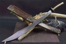 Nice Chinese WUSHU Broadsword SwordDaDaoSharp Damascus Steel Blade Full Tang