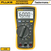 Genuine Fluke 115 True-RMS Digital Handheld Multimeter + Fluke Test Leads