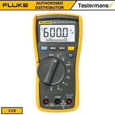 Fluke 115 True-RMS Digital Handheld Multimeter + Fluke Test Leads