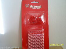 Arsenal Football Club 24 Party Cake Candles With Holders...Official Product