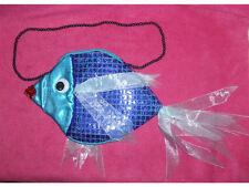 Sac poisson bleu pochette originale [809847385964] deguisement costume carnaval