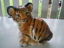 Vintage Baby Tiger Cub Ceramic Figurine Made in Italy