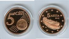 Grèce 5 Cent 2012 PP Seulement 2.500 Pièce
