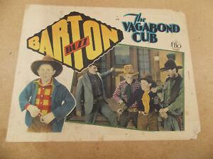 "THE VAGABOND CUB( 1929)BUZZ BARTON ORIGINAL LOBBY CARD11""by14"""