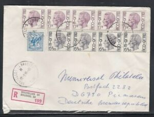 BELGIUM Registered Cover Brussels to West Germany 26-9-1986 Cancel