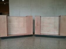 Very Fine Pair of Maple Finished Store Fixtures - Pickup Only!