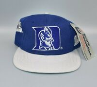 Duke Blue Devils Sports Specialties Wave Spell Out Vintage Snapback Hat - NWT