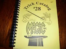 Magic Inc Chicago Trick Catalog #28 1/2 Updated Version Spiralbound 225 Pages