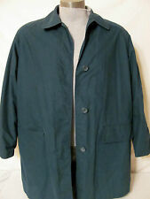 LONDON FOG Cotton Green 3/4 Trench Coat Size L