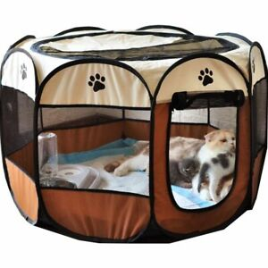 Portable Puppy Playpen Dog Cat House Tent Outdoor Cage Foldable Indoor Pet Bed