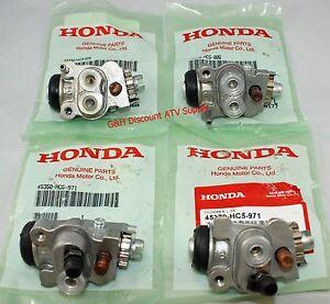 New OE HONDA 1988-2000 TRX 300 Fourtrax 4x4 Front Brake Wheel Cylinders ALL FOUR