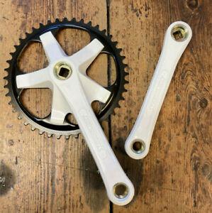 Retro Stronglight Single Speed Plastic Coated Steel Chainwheel Set 44 Tooth *NOS
