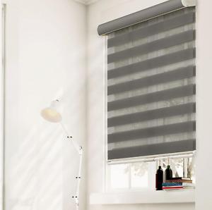 Zebra Granite Cordless Light Filtering Privacy Polyester Roller Shade