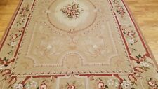 6 x 9 Hand woven French Needlepoint Portuguese Aubusson 100% wool Area rug