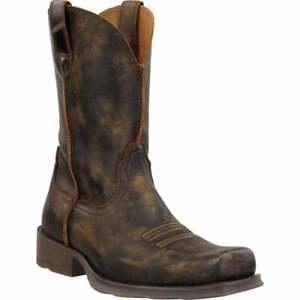 Ariat Rambler Ultra Distressed Square Toe   Mens  Boots   Mid Calf  - Brown -