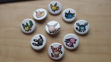 Pokemon Eeveelution 1.25'' Button Pins Set Eevee Sylveon Jolteon Umbreon Espeon