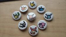 Pokemon Eeveelution 1.25'' Button Pins Set Eevee Sylveon Jolteon Umbreon Espeon