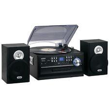 Jensen AM-FM Radio Turntable CD Player 3-Speed Stereo Vinyl Cassette Record