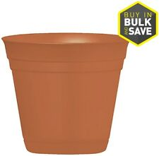 Garden Treasures 20-in x 16.75-in Terrra Cotta Smooth Plastic Planter
