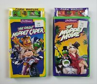 NEW Jim Henson VHS LOT The Muppet Movie & Great Muppet Caper 1993 Watch Novelty