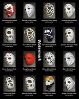 NHL 1970's Vintage Goalie Masks Color 8 X 10 Photo Picture Free Shipping