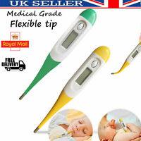 Digital LCD Thermometer Baby Adult Kids Safe Body Ear Mouth Temperature New