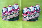 Vintage J. S. N. Y. Santa & Bear Christmas Candle Holders Set Of 2