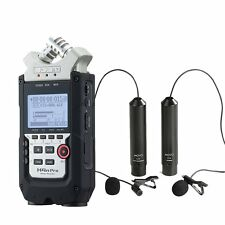 Zoom H4n PRO 4-Track Handy Recorder with Movo Omni & Cardioid Lavalier Mics
