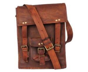 Men's Leather Messenger Bag Cross Body Shoulder Long Bag Rustic Retro Handmade