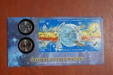 Gateway to the Universe Quarter Space Achievements Coin FDC FW Sc#1912-19 15659