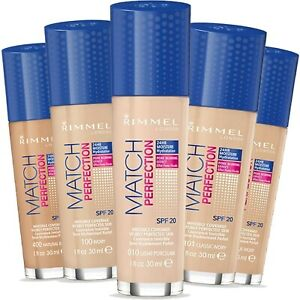 RIMMEL Foundation MATCH PERFECTION  Various Shades  SEALED