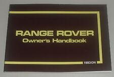 Betriebsanleitung Handbuch / Owner´s Manual Range Rover Classic 3,5 l ab 1983