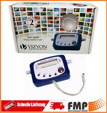 Vizyon Satfinder Profi SAT Finder Messgerät für digital LNB 4 LED Signal Neu OVP